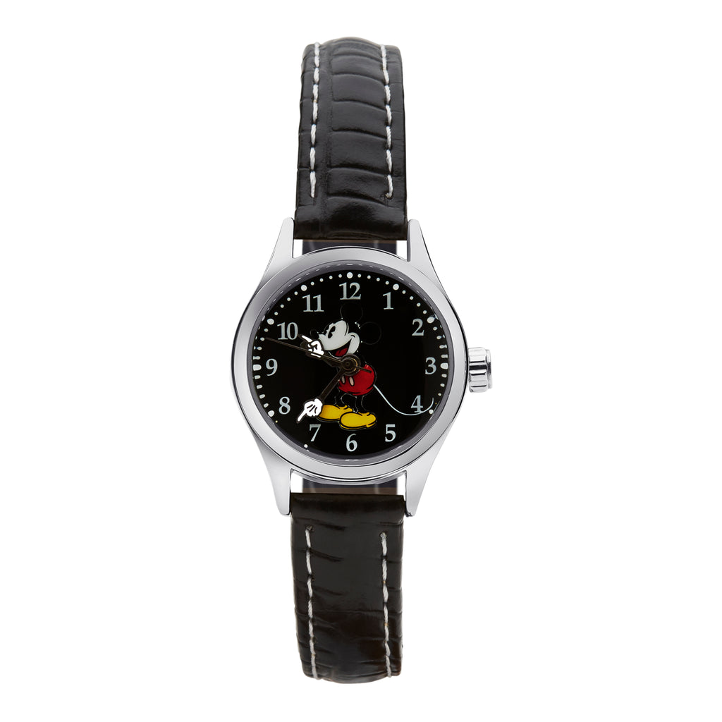 Black leather Disney watch