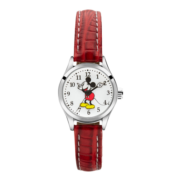 Red leather Disney watch