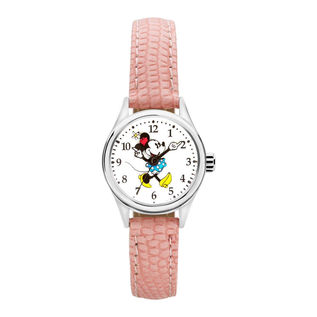 Pink leather Disney watch