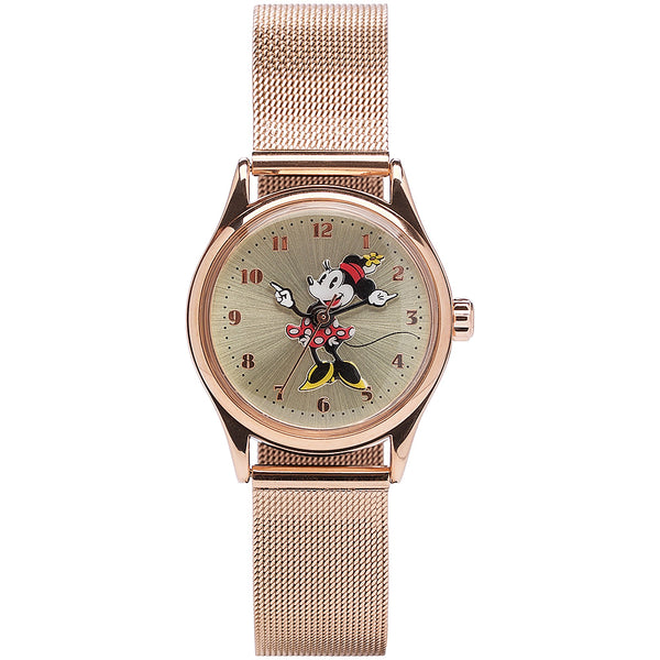 Rose mesh Disney watch