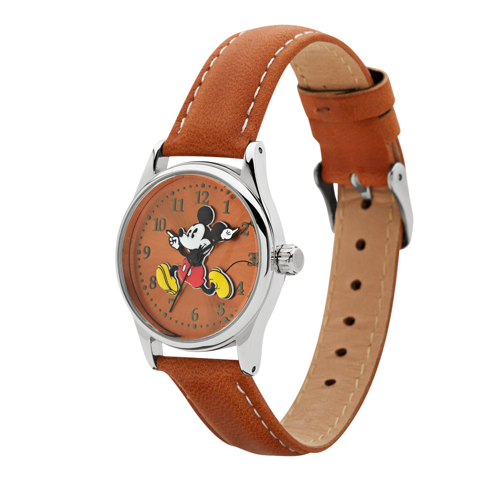 34mm Running Mickey Watch (Brown) TA56917