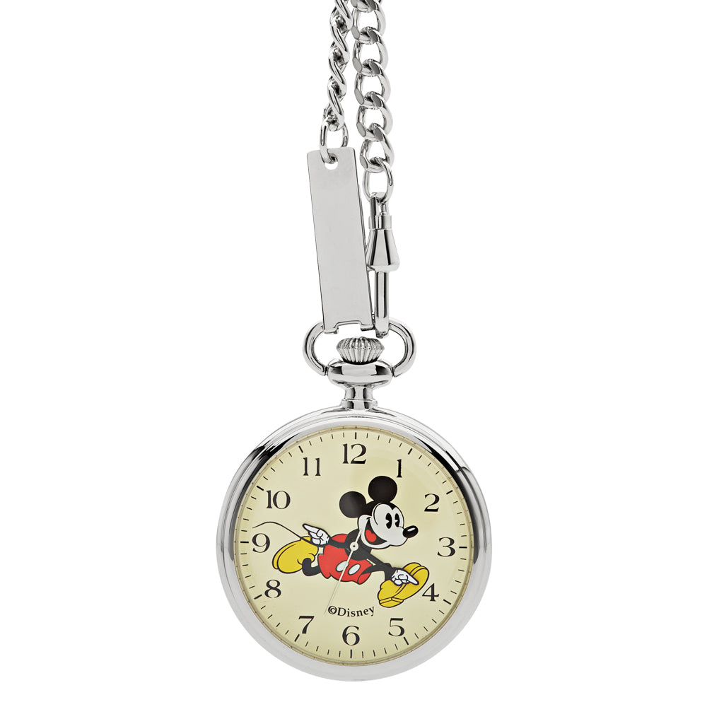 Steel Disney pocket watch