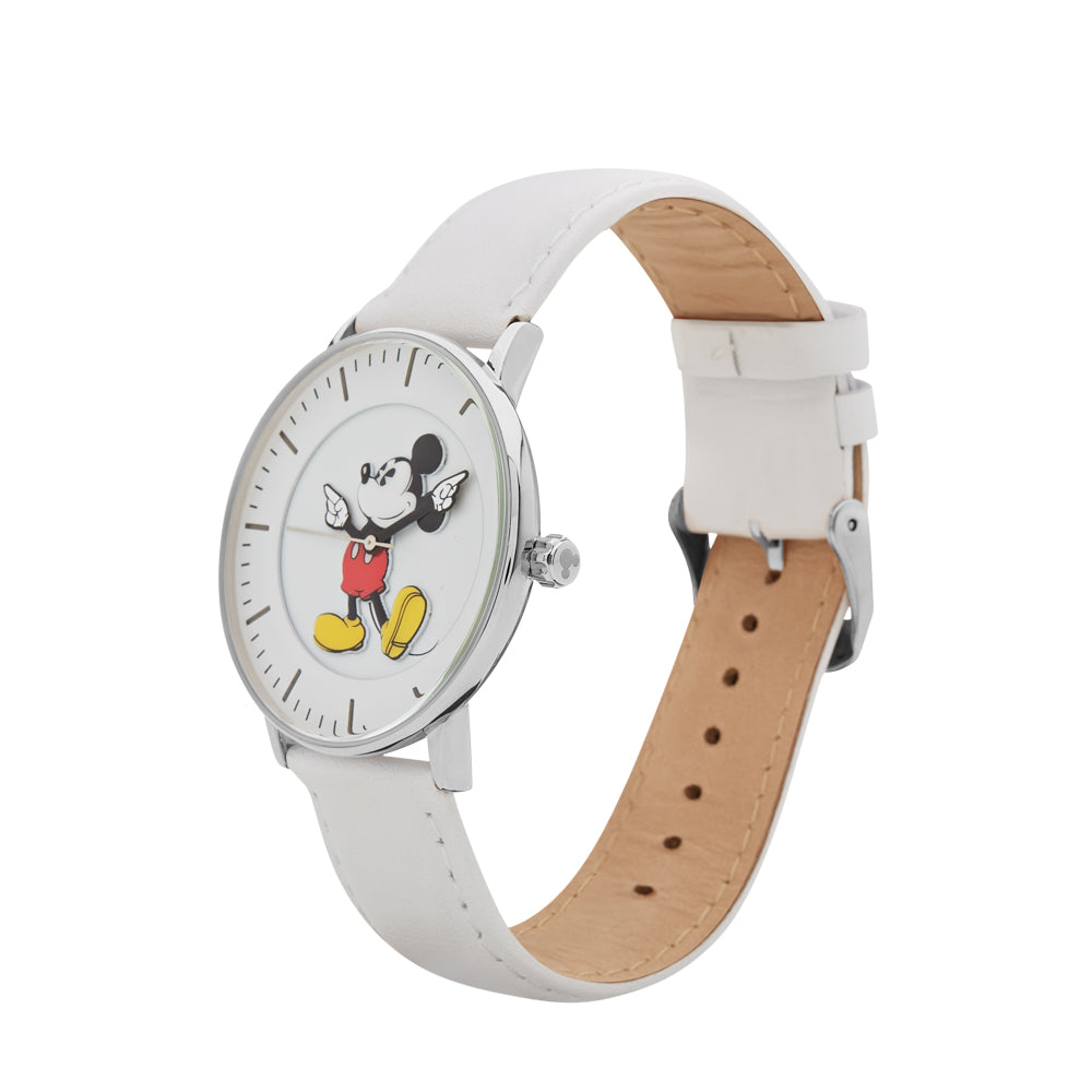 40mm Formal Mickey Watch (Steel & White) TA77302