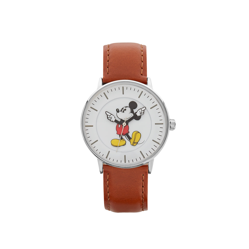 Brown leather Disney watch