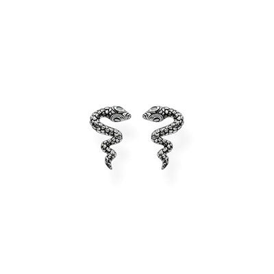 Thomas Sabo silver snake earrings with CZ