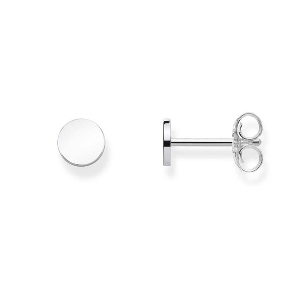 Silver disc studs