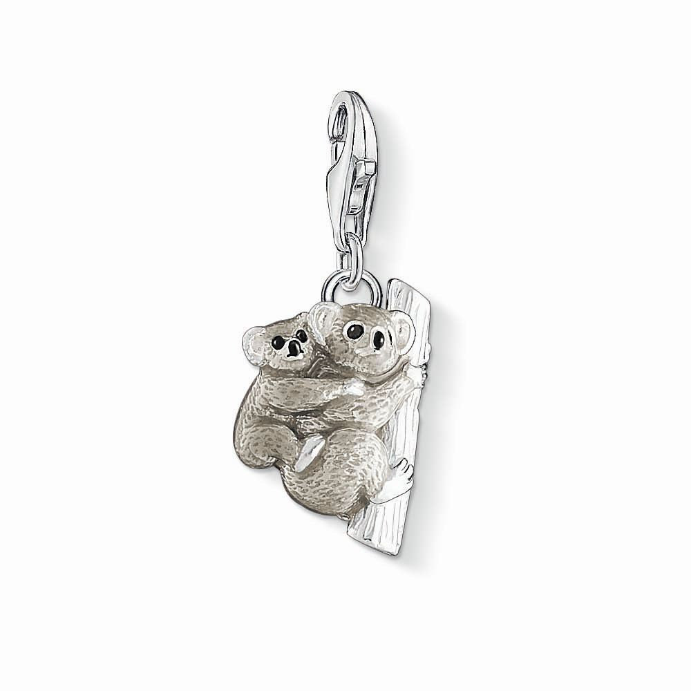 Charm Club silver koala charm with enamel