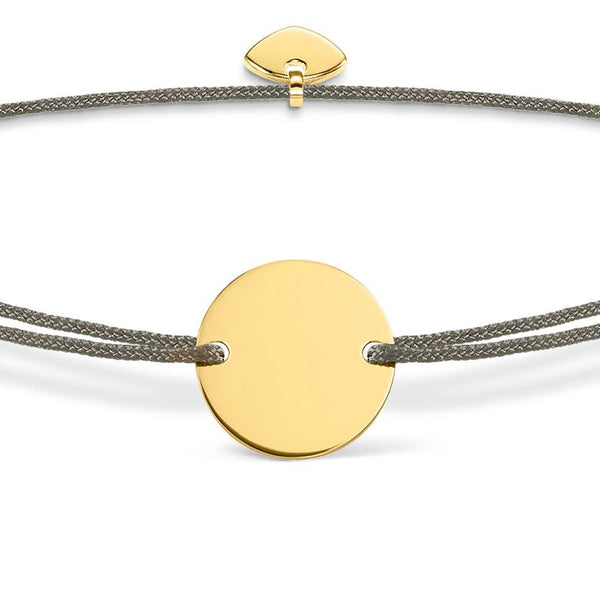 Adjustable disc bracelet