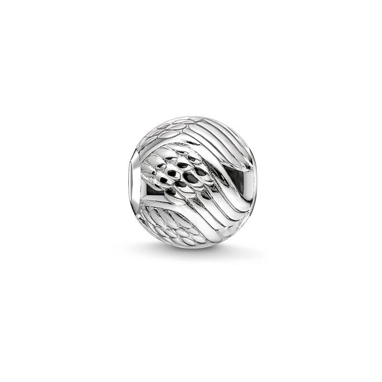 Silver angel wing Karma Bead