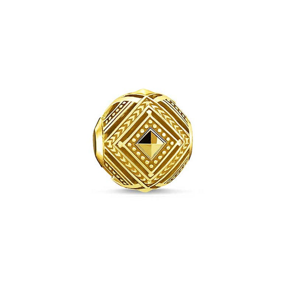 Gold finish Africa bead