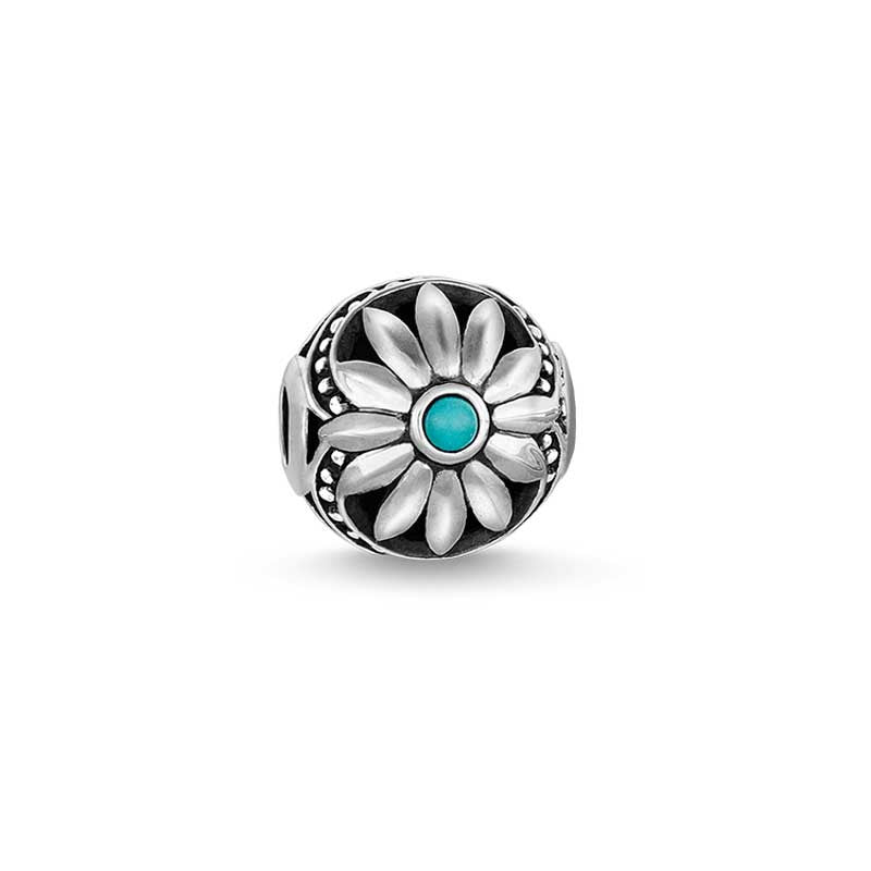 Flower bead with stone