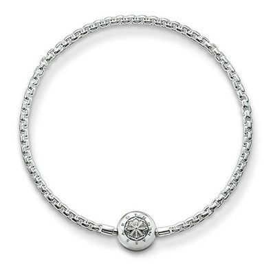 Polished silver Karma Beads bracelet