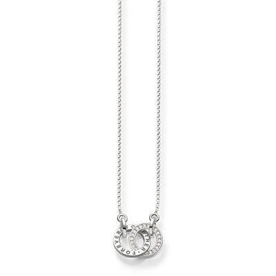 Silver interlocking Forever Together necklace