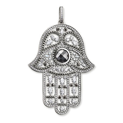Thomas Sabo silver pendant with cubic zirconia and hematite