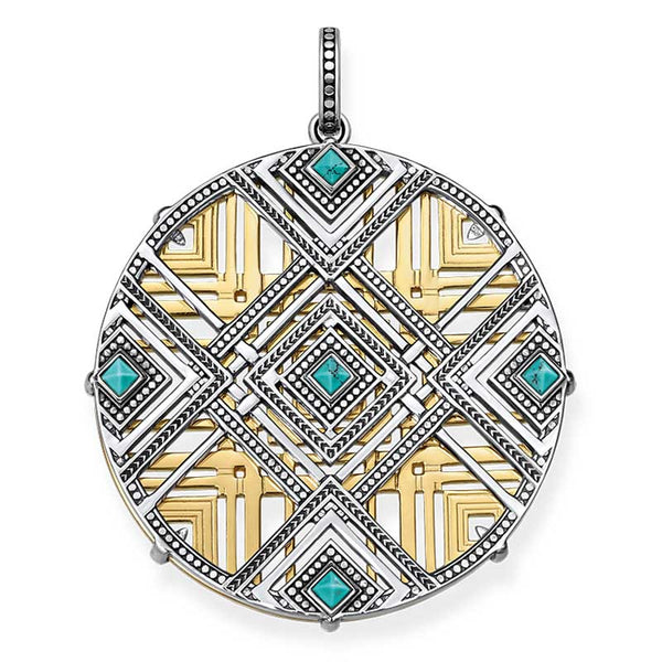 Woven Africa pendant