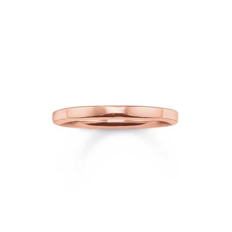 Thomas Sabo rose finish plain ring