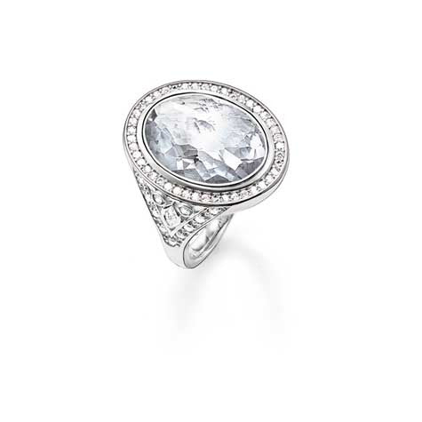 Thomas Sabo silver cocktail ring with CZ