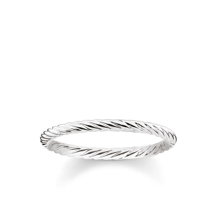 Silver simple twist ring