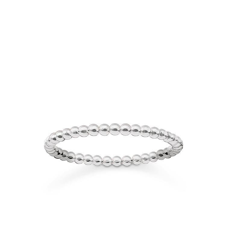 Silver simple dots ring