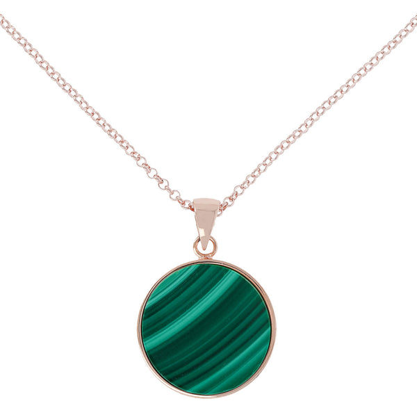 Bronzallure Medium Alba Necklace (Malachite) WSBZ00702.GM