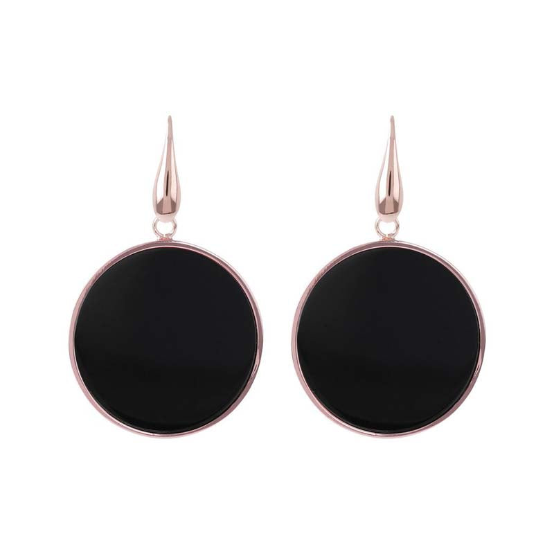 Bronzallure Alba Disc Earrings (Onyx) WSBZ00709.B