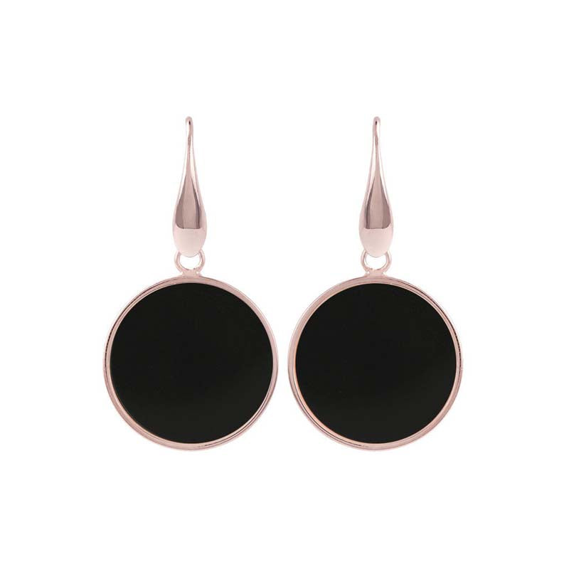 Bronzallure Alba Disc Earrings (Onyx) WSBZ00712.B