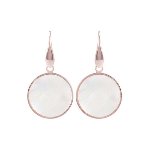 Bronzallure Alba Disc Earrings (MOP) WSBZ00712.W