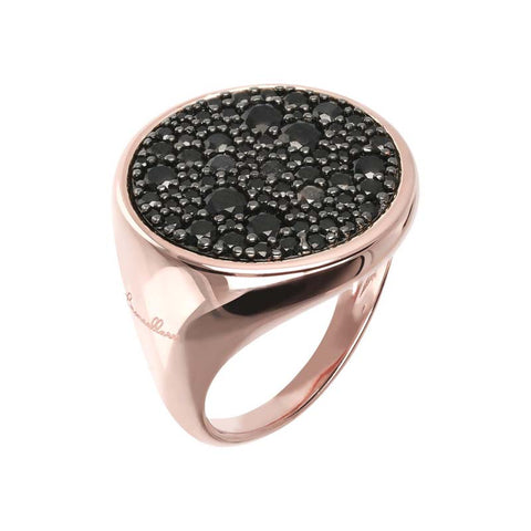 Bronzallure Altissima Ring (Black Spinel) WSBZ00831.BS
