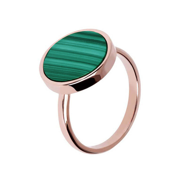 Bronzallure Alba Disc Ring (Malachite) WSBZ00904.GM