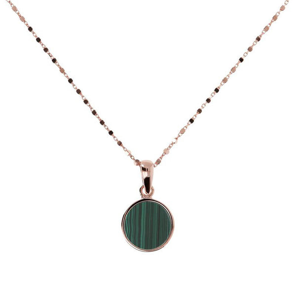 Bronzallure Small Alba Necklace (Malachite) WSBZ01022.GM