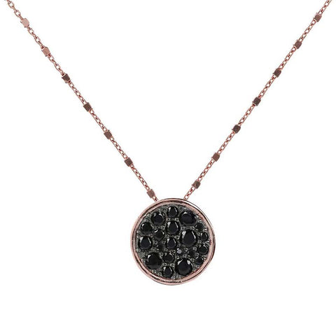 Bronzallure Altissima Necklace (Black Spinel) WSBZ01028.BS