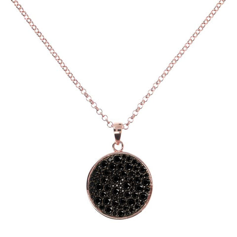 Bronzallure Altissima Long Necklace (Black Spinel) WSBZ01059.BS