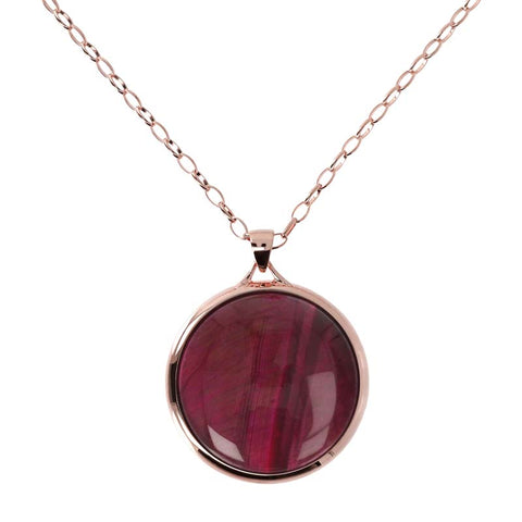 Bronzallure Incanto Necklace (Red Tiger Eye) WSBZ01304.RTG