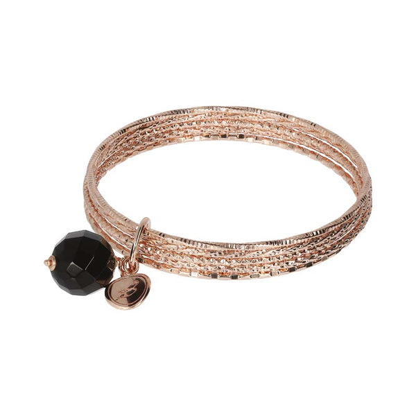 Bronzallure Variegata Multi Bangle (Black Onyx) WSBZ01386.BO