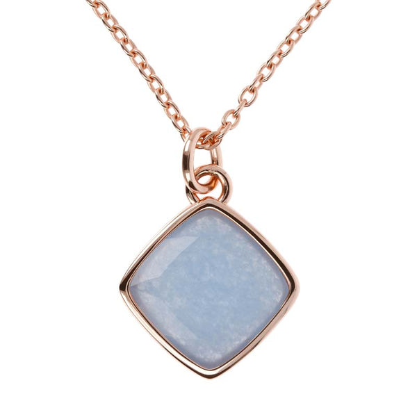 Bronzallure Incanto Square Necklace (Blue Quartz) WSBZ01418.LBQ
