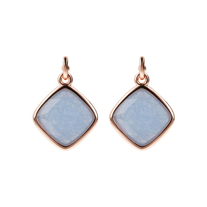 Bronzallure Incanto Square Earrings (Blue Quartz) WSBZ01461.BQ