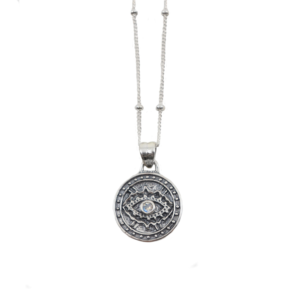 Toni May Watchful Necklace (Moonstone)