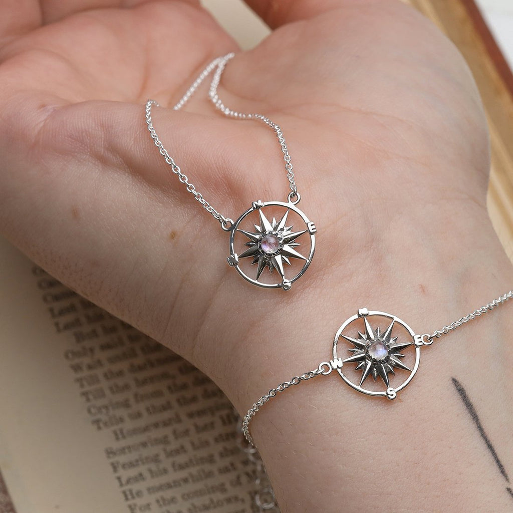 Midsummer Star Guiding Light Compass Necklace N253RM