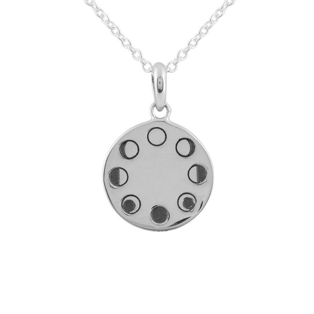 Midsummer Star Under the Moon Phases Necklace N418