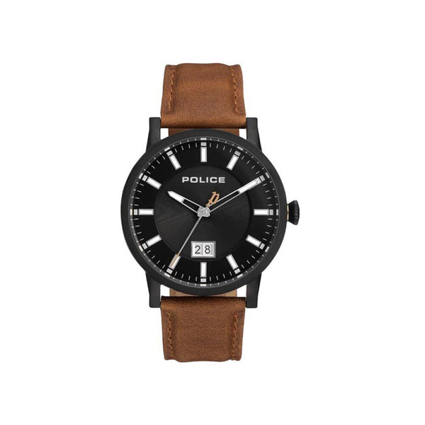 Black and brown Police watch