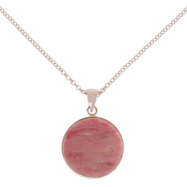 Bronzallure Medium Alba Necklace (Red Fossil Wood) WSBZ00702.RDW