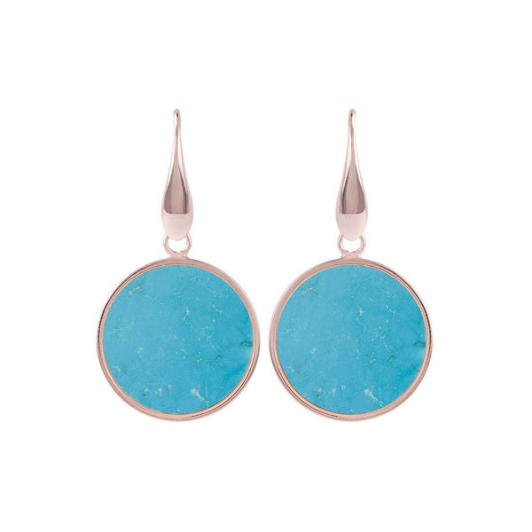 Bronzallure Alba Disc Earrings (Magnesite) WSBZ00712.MG