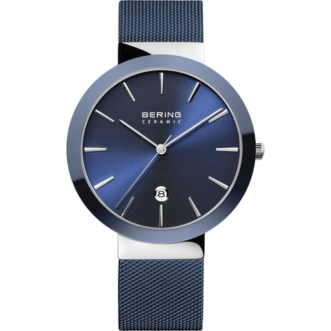 Bering Ceramic Bezel Watch (Blue) 11440-387