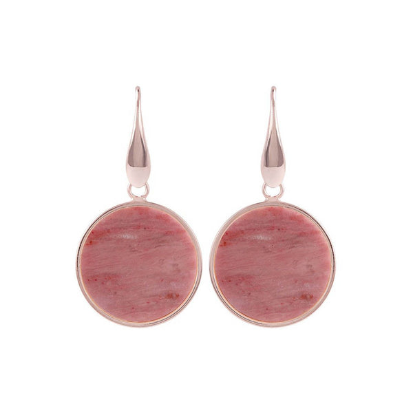 Bronzallure Alba Disc Earrings (Red Fossil Wood) WSBZ00712.RDW