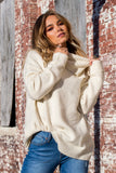 Knit Turtle Neck Ivory Sweater