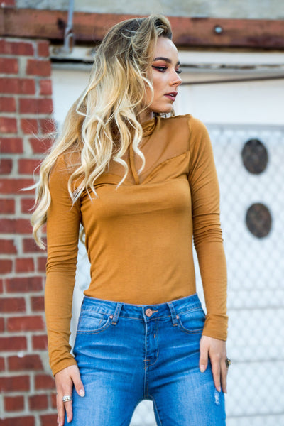 Mesh with Me Mustard Top