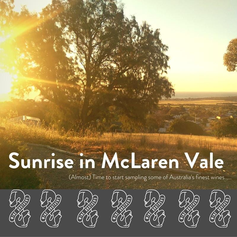 McLaren Vale, the first stop....