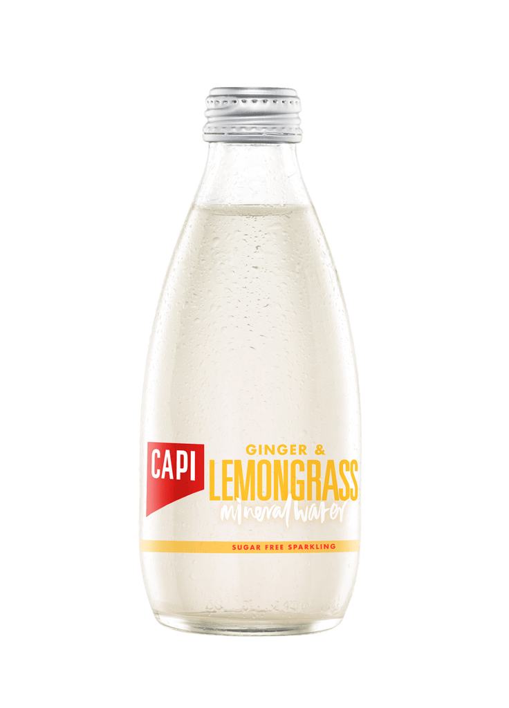 CAPI Sparkling Lemongrass & Ginger Water 24 x 250ml Bottle