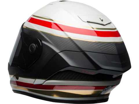 BELL Race Star Helmet RSD Gloss/Matte White/Red Carbon Formula