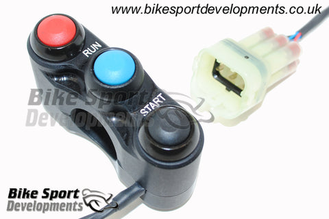 Kawasaki ZX10-2016 , 3 button right side switch – Run/Stop Starter , Lap-Start